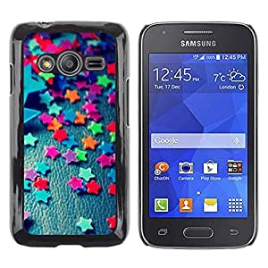 Stuss Case / Funda Carcasa protectora - Stars Candy Decoration Design Party Colorful - Samsung Galaxy Ace 4 G313 SM-G313F
