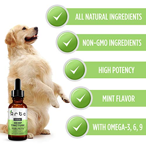 Hemp-Oil-for-Dogs-Cats-250-mg-Natural-Pet-Supplement-Rich-in-Omega-3-6-9-Helps-with-Stress-Pain-Relief-Inflammation-Anxiety-and-Sleep-Promotes-Bone-and-Hip-Joint-Health-Cool-Mint-Flavor