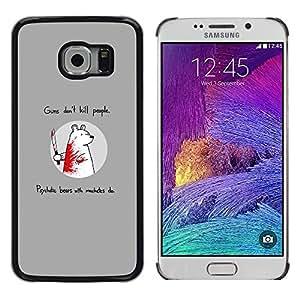 iKiki Tech / Estuche rígido - Divertido oso del asesino - Samsung Galaxy S6 EDGE