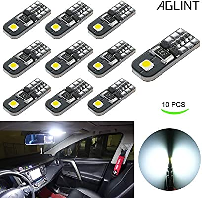 10X T10 501 W5W CAR SIDE LIGHT BULBS NUMBER PLATE INTERIOR WEDGE LED XENON HID