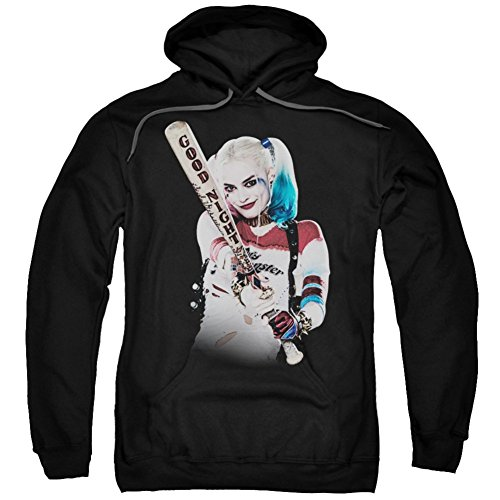 Hoodie: Suicide Squad- Harley Quinn At Bat Pullover Hoodie Size L -