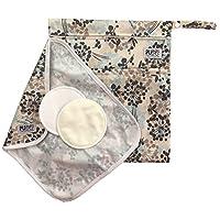Pumping Bundle: Breastpump Parts Wet/Dry Bag and Mat + 2 Washable Nursing Pad...