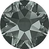 2000, 2058 & 2088 Swarovski Flatback Crystals Non Hotfix Black Diamond