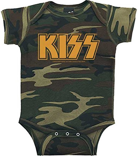 KISS Camouflage Infant Baby Rock and Roll Creeper Romper (12 Months)