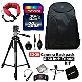 32GB Accessory Kit for Canon EOS 80D, 70D, EOS Rebel T6, T6i, T6S, T5i, T5, T4i, T3i, T3, EOS 760D, 750D, 1300D, 1200D Includes 32GB High-Speed Memory Card + Camera Backpack + 72' inch Tripod + MORE