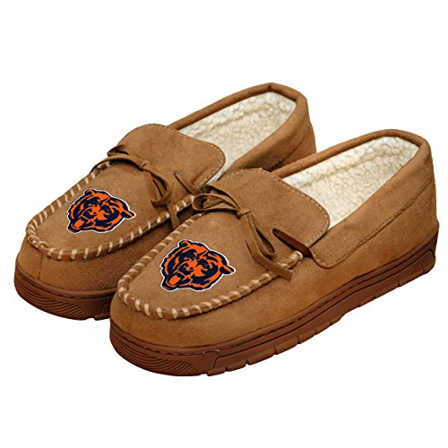 Chicago Bears Mens Moccasin Slipper Extra Large
