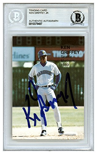 Ken Griffey Jr. Signed Autograph 1989 Superstars Rookie Card #16 Seattle Mariners - Beckett Authentic