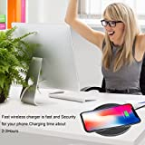 Fast Wireless Charging, iPhone X Wireless Charger for phone, Fast Wireless Charger Pad Stand for Samsung Galaxy Note 8/5 S8/S8 Plus S7/S7 Edge S6 Edge Plus, Standard Charger for Apple iPhone X iPhone