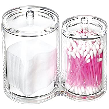Estilo 100% Acrylic Cotton Ball and Swab Holder