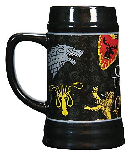 Game of Thrones 22oz Sigil Beer (Licensed Black Steins)