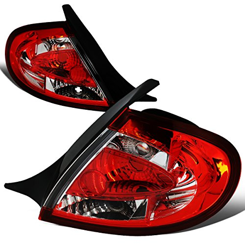 Dodge Neon Parking Lights - For 2000-2002 Plymouth/Dodge Neon Chrome Housing Altezza Style Tail Light Brake/Parking Lamps