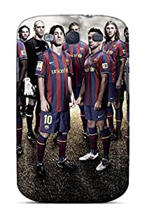 For Galaxy S3 Premium Tpu Case Cover Fc Barcelona Squad 2013 Protective Case