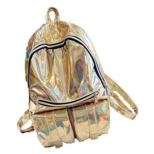 Láser Personalizada Mochila Capacidad Bolso Brillante Moda Bolsa Gran Shan Estudiante De 5w4ndqWE