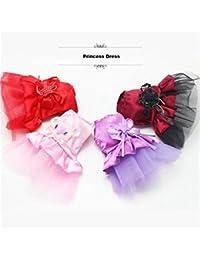 PickUp Bargain World Summer Puppy Pet Dog Lace Satin Skirt Cat Party Wedding Princess Dress dispense