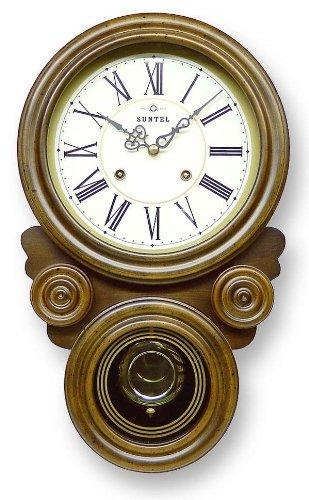 ボンボン振り子だるま時計(ローマ文字) QL687R B008FVFWRW
