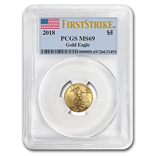2018 1/10 oz Gold American Eagle MS-69 PCGS (First Strike) Gold MS-69 PCGS