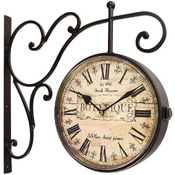 Amazoncom Double Sided Dodge City Station Hanging Wall Clock