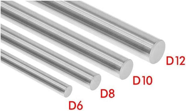 Optical Axis 300 320 350 380 400 450 500 mm Tige lisse 8 mm Rail lin/éaire pour imprimantes 3D Plaqu/é chrome