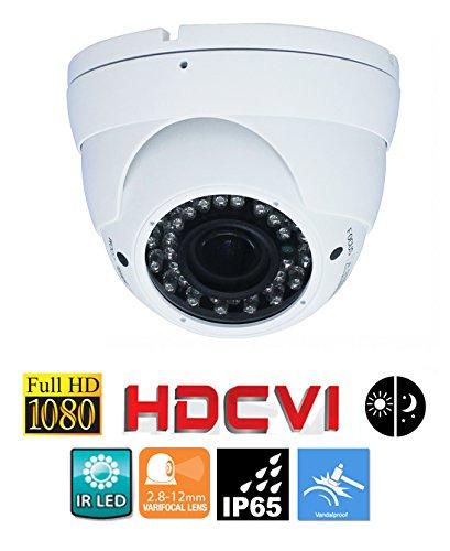 Resistant Camera Ccd Bullet Color (2 megapixel 1080P HD-CVI security dome camera 2.8~12mm varifocal lens vandal-proof)