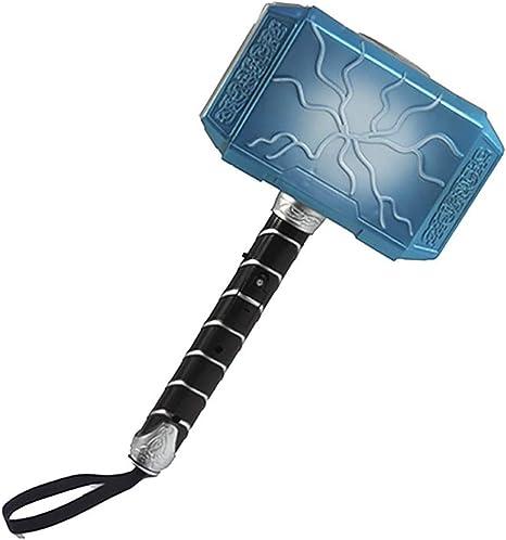 1 PC Thor batalla martillo creativo de martillo de juguete martillo de juguete para los Vengadores Raytheon con música ligera para niños y los aficionados regalo regalos (azul): Amazon.es: Bebé