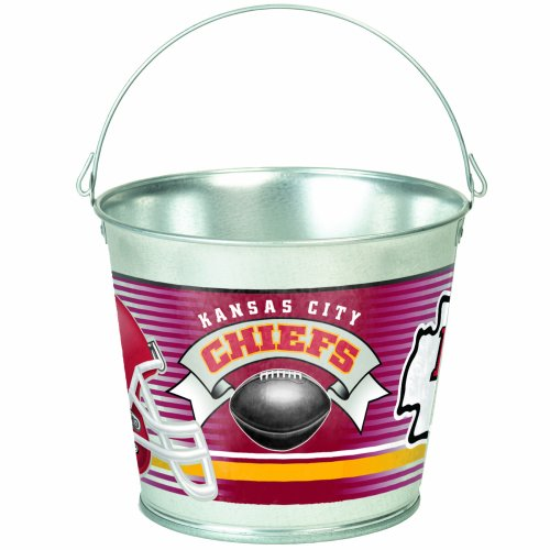 NFL Kansas City Chiefs 5-Quart Galvanized Pail