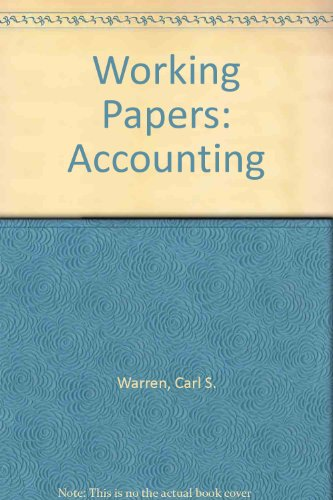Working Papers, Chs. 12-24