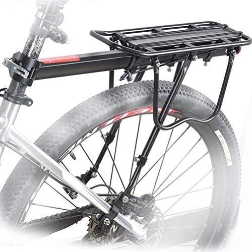 Lucidz Rear Rack Seat Post Bicycle Mountain Bike Mount Pannier Luggage Carrier Metallic