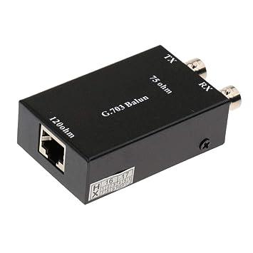 P Prettyia BNC Coaxial Al Adaptador Convertidor De Ethernet RJ45 Transmisión De Datos De Baluns Video