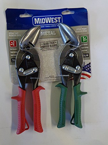 Midwest Tool and Cutlery MWT-6510C Midwest Snips Forged Blade 2-Piece Offset Aviation Snips Set 10 Pack Set (10) USA MADE! by Midwest Tool & Cutlery