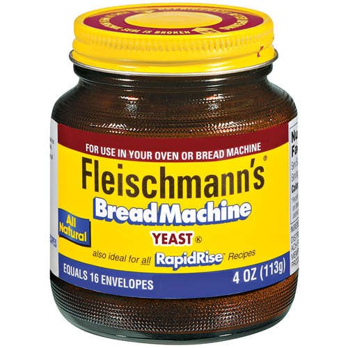 Fleischmann's Bread Machine Yeast, Also Ideal for All Rapid Rise Recipes, Equals 16 Envelopes, 4 oz Jar (Pack of 2) by ACH FOOD COMPANIES INC