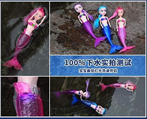 YBpineer Fashion Ariel Princess Mermaid Doll with LED Light Classic 20cm High Dolls Toy for Girl Birthday Xmas Gifts (Green)