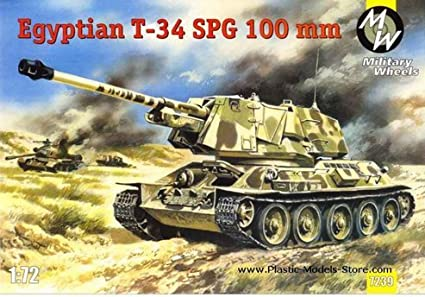 Amazon.com: T-34 egipcio tanque 100 mm self-propelled gun T ...