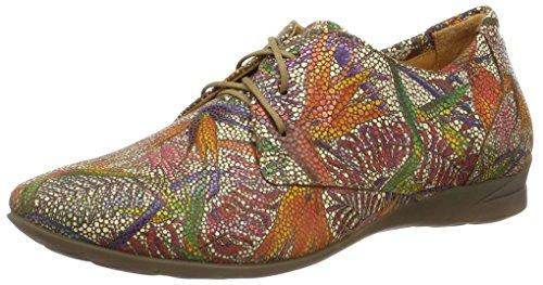 Think Wunda, Zapatos de Cordones Derby para Mujer Multicolor (muskat/kombi 40)