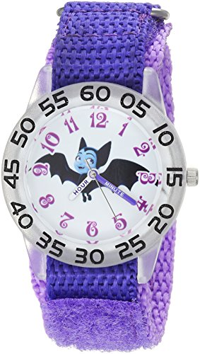 Disney Girl's 'Vampirina' Quartz Plastic and Nylon Casual Watch, Color:Purple (Model: WDS000414)