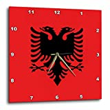 3dRose Flag of Albania – Albanian black double Headed Eagle on Red – Balkans Eastern Europe European World – Wall Clock, 13 by 13-Inch (dpp_159836_2) Review