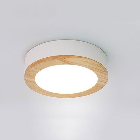 zzatt techo Leuchten Nordic Creativo de techo lámpara Madera ...