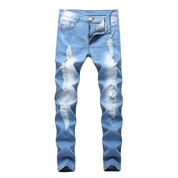 hot sales various colors wide range JiaMeng Homme Pantalon Jean Serré Détruit Trou Genou Ouverte ...
