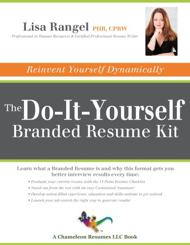 Pdf Free Download The Do It Yourself Branded Resume Kit Popular