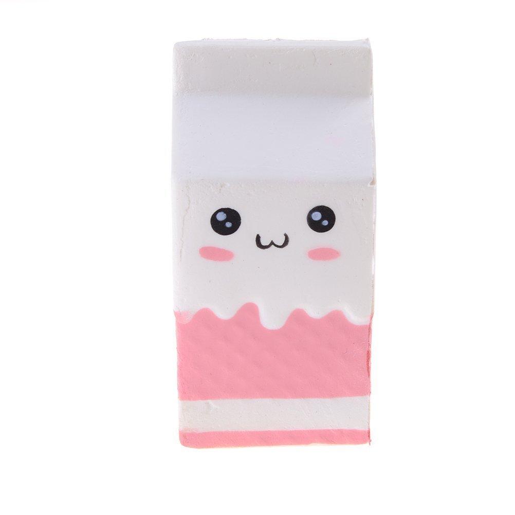 Yojoloin Squishies Squishy Milch Dekompression langsam Steigende Zappeln Squeeze Zappeln Spielzeug duftende seltene Dekompression Spielzeug (Pink)