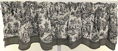 The Curtain Shop Classic Victorian Toile 70Wx15L Bradford Valance-Black