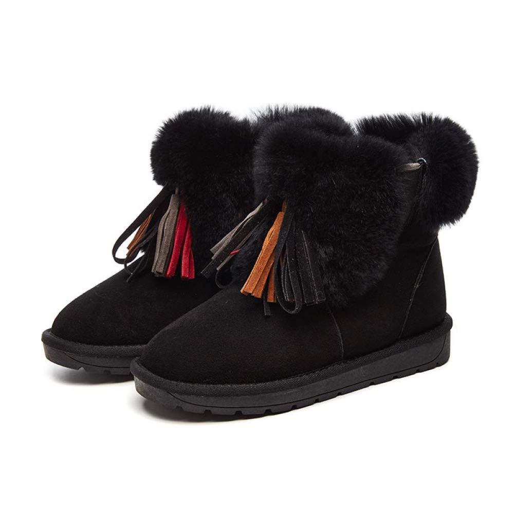KFDQ Schneestiefel Frauen Quasten Dicke Warme Stiefel Stilvolle Damenschuhe Für Für Für Zuhause Im Freien Usw 1b0db7