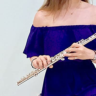 Mugig Flute, Flute Set with Stand, Closed Hole C Flute with 16 Keys, Standard Tone, Instrument Gift for Beginner