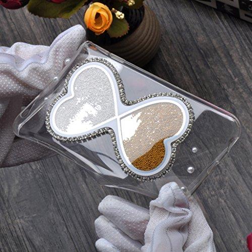 """Infinite U Jewellery Conception Nouvelle Double C?urs Sablier Blanc Transparent Souple TPU GelSiliconee Case/Coque/Etui de Téléphone Mobile pour iPhone 6/6s 4.7"""" Femme"""