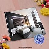 VROSELV Custom Cotton Microfiber Ultra Soft Hand Towel-Modern elegant twin room interior_ Custom pattern of household products(14''x14'')