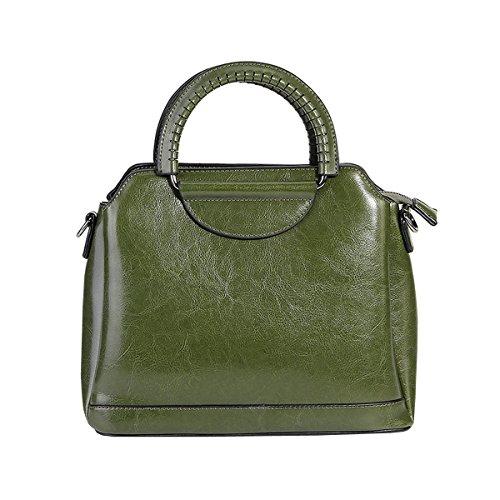 main portés Vert à cuir portés main 8958 Valin Sac bandoulière fashion en Sac épaule LF Sac femme Sac BxnwfR