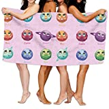 Lichang Beach Pool Custom Bath Towel Cartoon Funny Solar System Planets Super Absorbent Microfiber