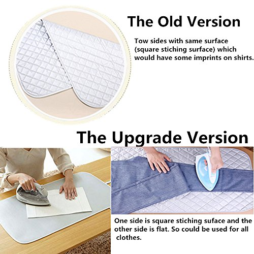 Nnty Gluck Upgraded Thick Ironing Blanket,Portable Ironing Mat with Silicone Pad,and Press Ironing Cloth Mesh,Heat Resistant Ironing Pad Cover for Washer,Dryer,Table Top,Countertop,Iron Anywhere by Nnty Gluck (Image #2)