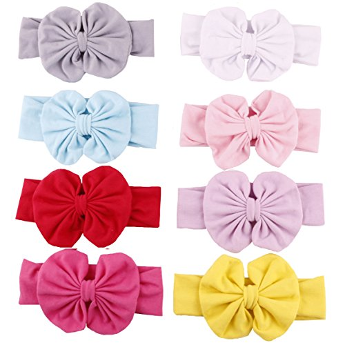 Baby Headbands Turban Knotted, Girl's Hairbands for Newborn,Toddler and Children's