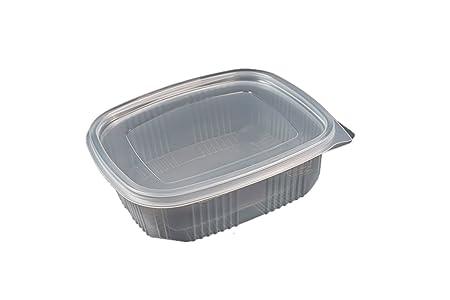 Pack de 50 recipientes desechables con tapa, para alimentos ...