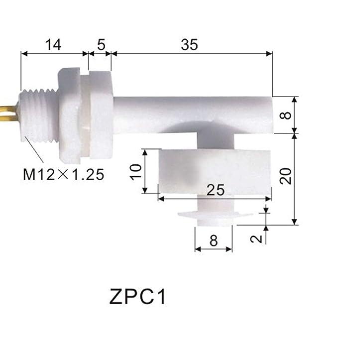 ALCOMPRA 2 unids Interruptor de flotador PP M12 40mm Tanque ...